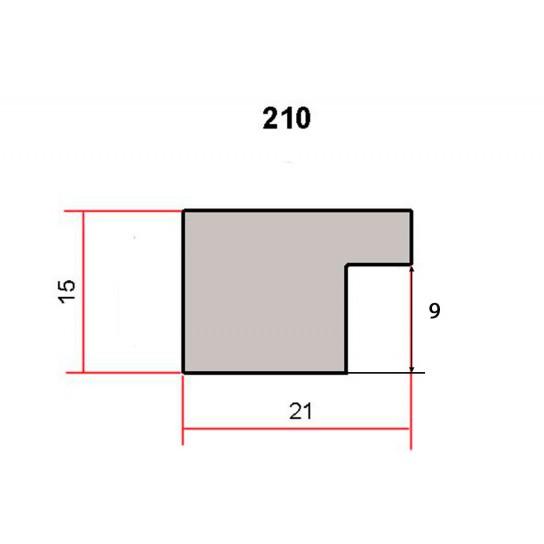 Фоторамка 15х21см (А5), 210-785