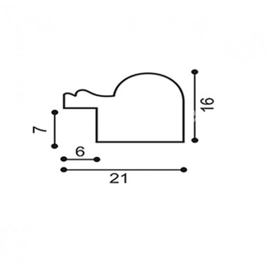 Фоторамка 10x15см, 2115b-64g